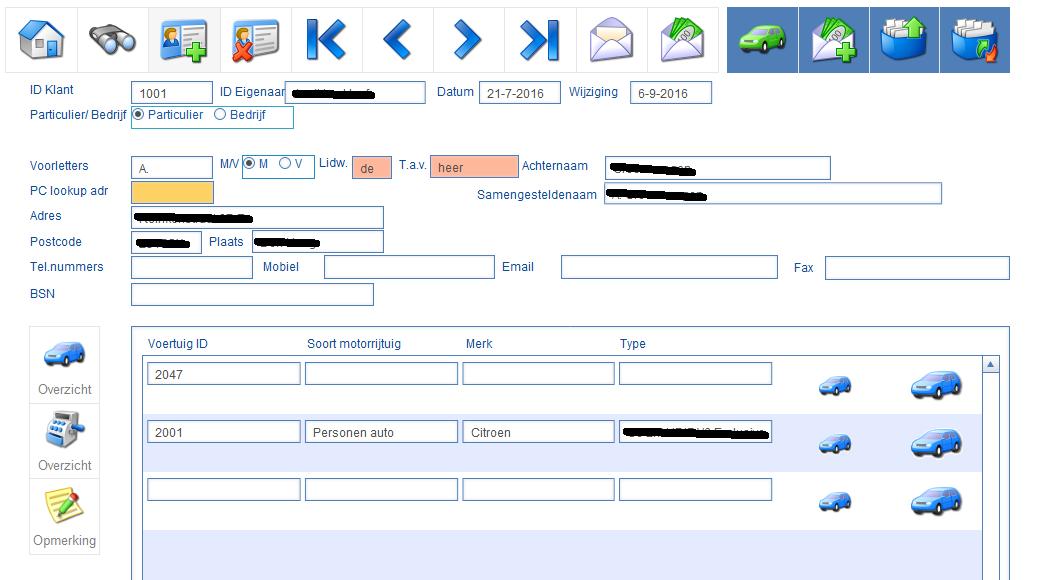 Klanten kaart taxatie manager 4.0